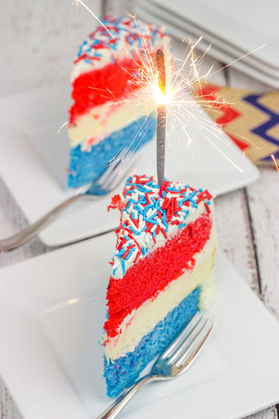 Marvelous Red White And Blue Cheesecake Cake Recipelion Com Funny Birthday Cards Online Alyptdamsfinfo