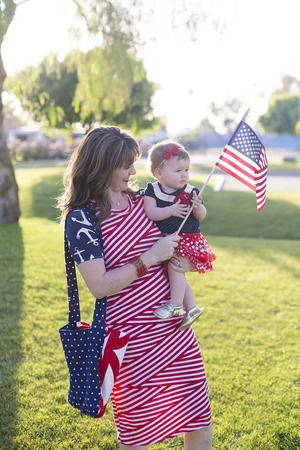 Patriotic Dress and Picnic Blanket