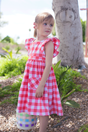 Gingham Pinafore Dress