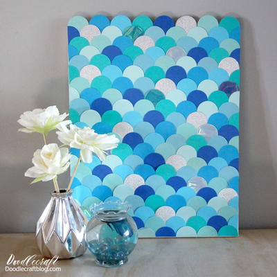 Mermaid Scales DIY Backdrop Art