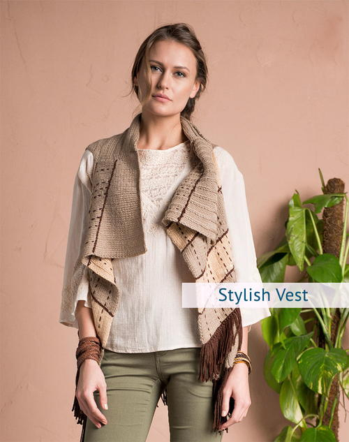 Stylish Vest Knitting Pattern For Women Allfreeknitting Com