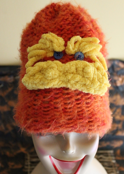 Lorax Loom Knitted Hat