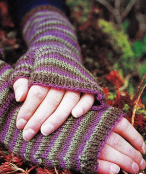 Eggplant Fingerless Gloves