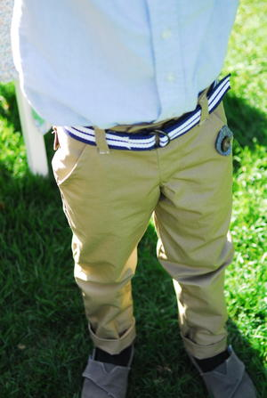 Boys Skinny Cuffed Trousers