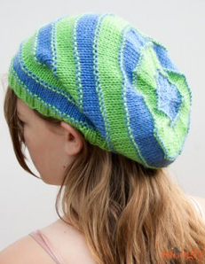 Stripey Knit Slouchy Beanies