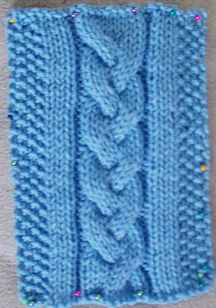 Braid Cable Stitch with Ribbing