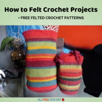 How to Felt Crochet Projects