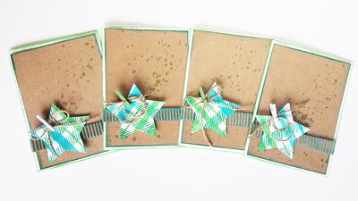 Rustic Stars DIY Christmas Card Holder