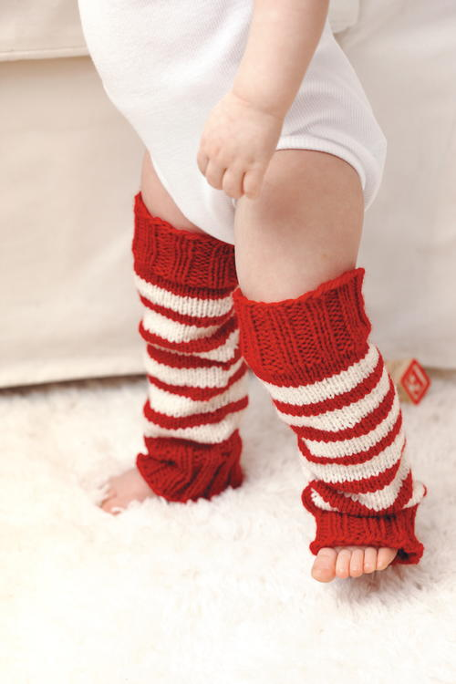 Candy Cane DIY Baby Leg Warmers