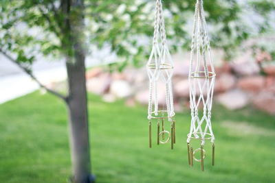DIY Mini Macrame Wind Chimes