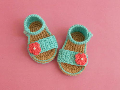 Easy Baby Gladiator Crochet Sandals Free Pattern Allfreecrochetcom