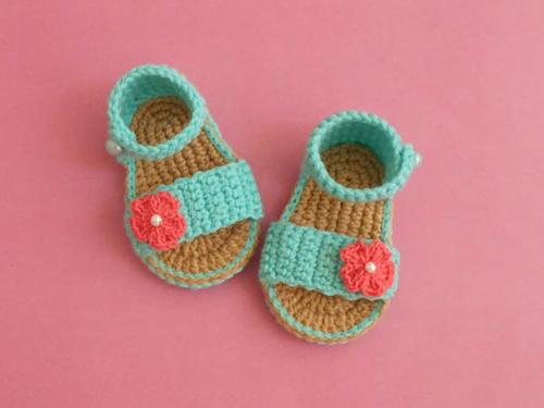 731efd4e6810 Easy Baby Gladiator Crochet Sandals Free Pattern