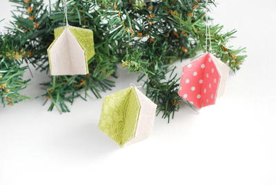 3-D Hexagon Ornament Sewing Pattern