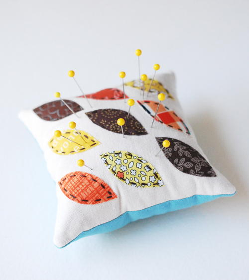 Autumn Leaves Pincushion Tutorial