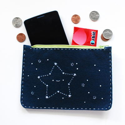 Cute Constellations Zippered Pouch Pattern