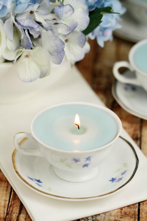 Stress Relief DIY Teacup Candles