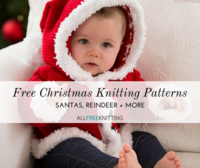 20+ Free Christmas Knitting Patterns: Santas, Reindeer, and More