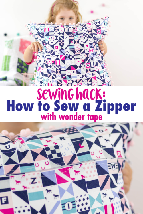 Sewing Hack: How to Sew a Zipper with Wonder Tape