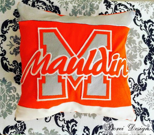 DIY Memory Pillow From An Old Cheer Uniform