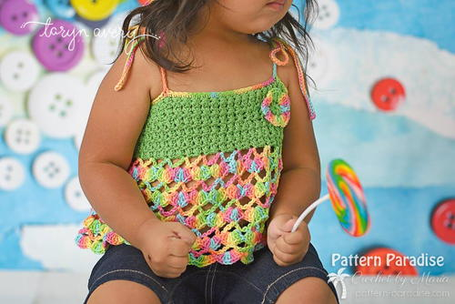 All Tied Up Crochet Toddler Top