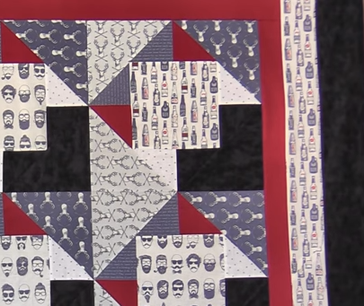 Beards and Beer Masculine Quilt Tutorial
