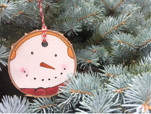 Hand Painted Snowman Ornaments