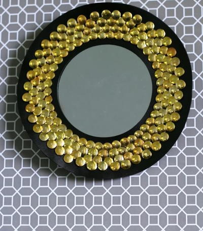 Dollar Store DIY Sunburst Mirror