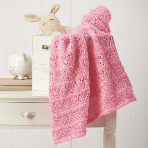 Heartfelt Baby Blanket Knitting Pattern