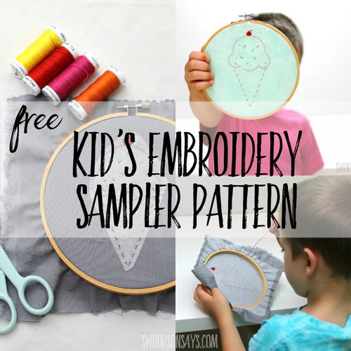 Kid's Embroidery Pattern