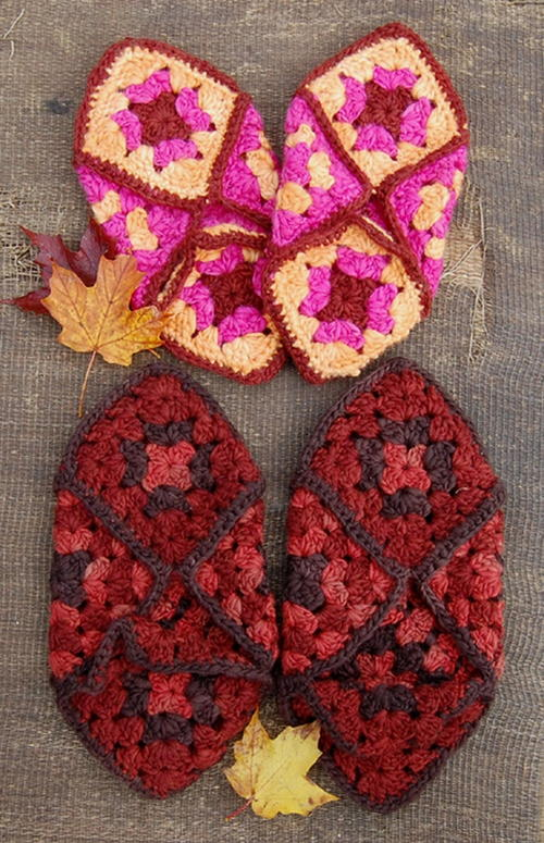 46a9a9b8010 Granny Square Slippers