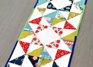 Contemporary Quilted Table Runner