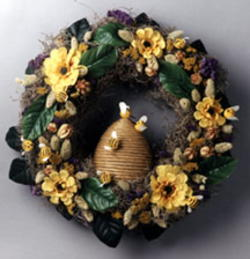 Floral Beehive Wreath