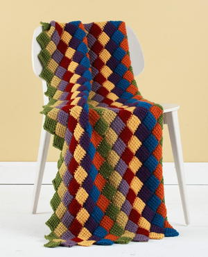 Tunisian Entrelac Throw