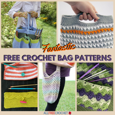 23 Fantastic Free Crochet Bag Patterns Allfreecrochetcom