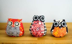 Stuffed Owls Sewing Pattern Allfreesewing