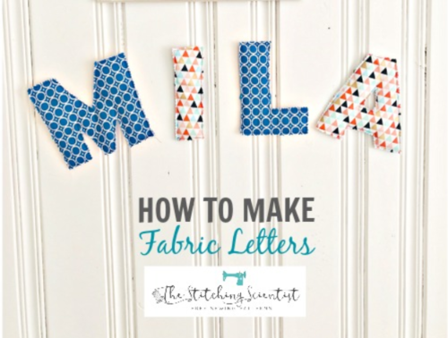 10 Minute DIY Fabric Letters