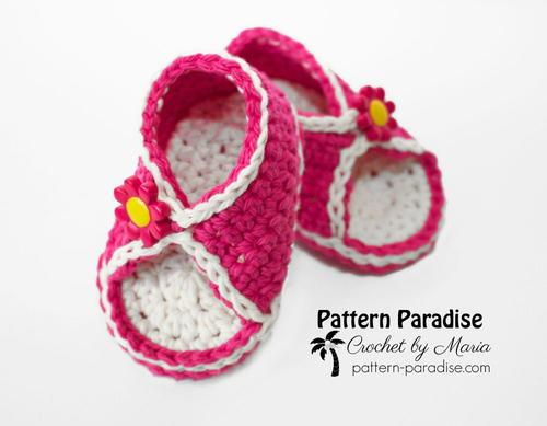 Peek A Boo Baby Crochet Sandals Allfreecrochetcom