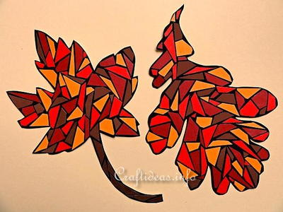 Paper Mosaic Autumn Leaves