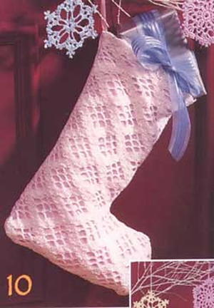 A Lacy Crochet Stocking