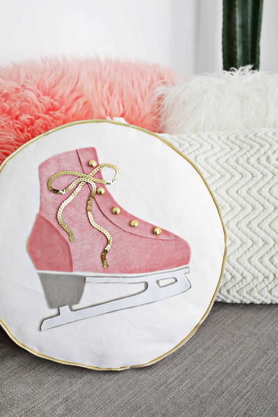 Ice Skate DIY Throw Pillow