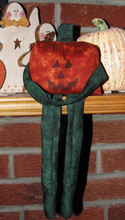 Fabric Pumpkin Doll