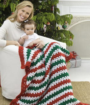 Christmas Striped Throw