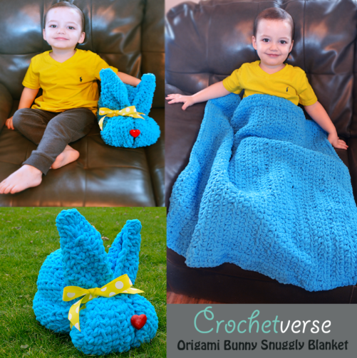 Easy Bunny Snuggly Crochet Blanket