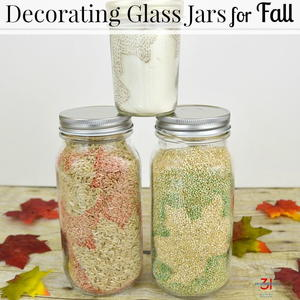 Decorating Glass Jars For Fall Favecrafts Com