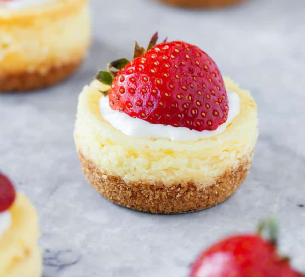 5-Ingredient Mini Cheesecake Recipe