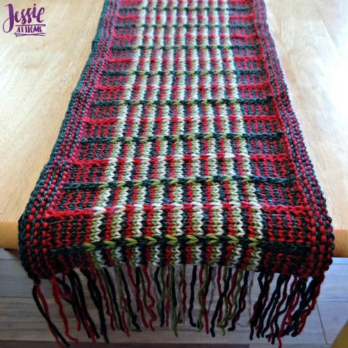 Christmas Slip Stitch Table Runner
