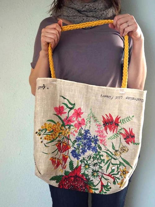 Tea Towel DIY Farmers Market Bag