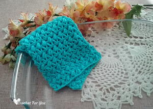Crochet Mini Bean Stitch Dishcloth