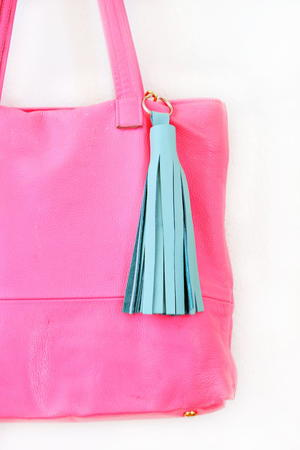 No-Sew DIY Leather Tassel Keychain