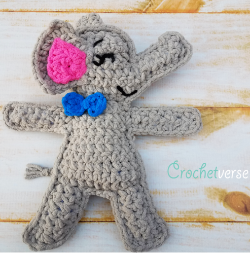 Easy Elephant Ragdoll Crochet Pattern